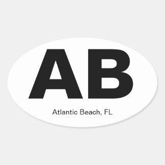 Playa atlántica, FL Calcomanía Óval