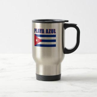 PLAYA AZUL Cuba Beach Tshirts, Gifts Travel Mug