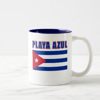 PLAYA AZUL Cuba Beach Tshirts, Gifts Two-Tone Coffee Mug