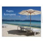 playa azul reservada grande tarjeta de felicitación grande