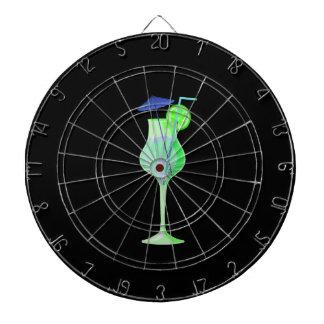 playa azul verde graphic.pn del paraguas del vidri tablero dardos