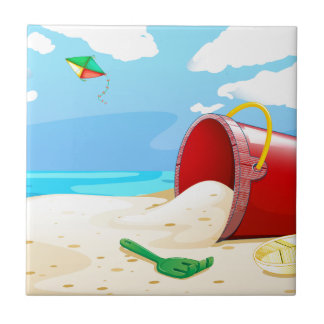 Playa Azulejo Cuadrado Pequeño