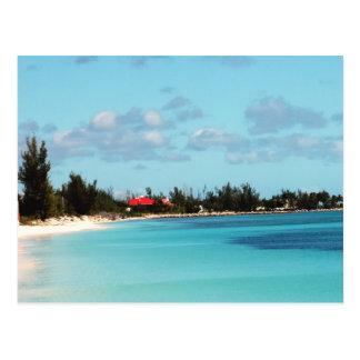 Playa bahamesa hermosa postal