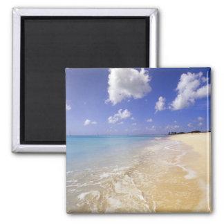 Playa baja de la bahía Barbuda Antigua Imán De Frigorifico