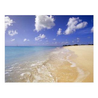 Playa baja de la bahía Barbuda Antigua Tarjeta Postal