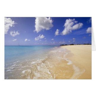 Playa baja de la bahía Barbuda Antigua Tarjeton