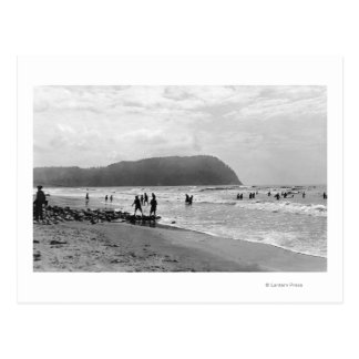 Playa bañistas de Oregon y cabeza de Tillimook Tarjetas Postales
