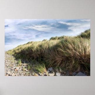 playa beal rocosa dramática póster