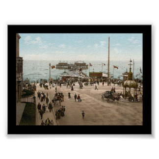 Playa Blackpool Inglaterra del KRW Póster