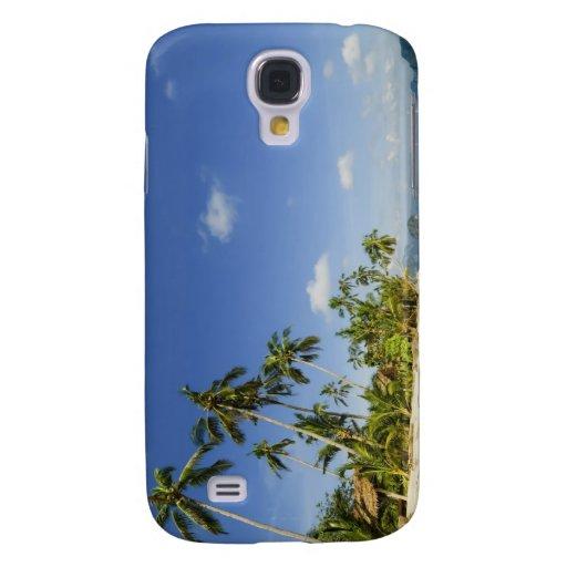 Playa blanca de la arena en caso del iPhone 3G de
