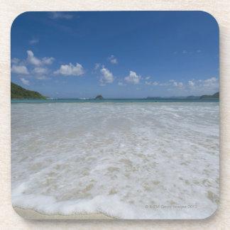 Playa blanca tropical prístina posavasos