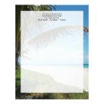 Playa blanca w/Palm de la arena Membrete