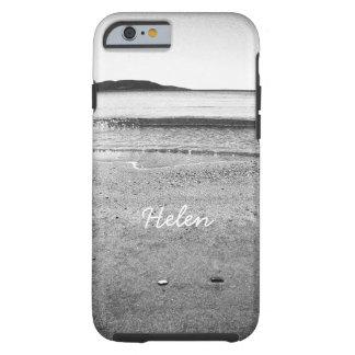 Playa blanco y negro de la arena funda resistente iPhone 6