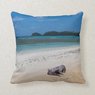 Playa Bonita Beach Dominican Republic Island Throw Pillow