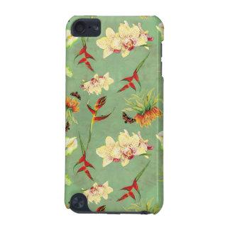 Playa botánica de la mariposa de la orquídea flora funda para iPod touch 5G