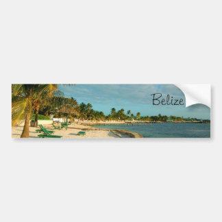 Playa BumperSticker de Belice Etiqueta De Parachoque