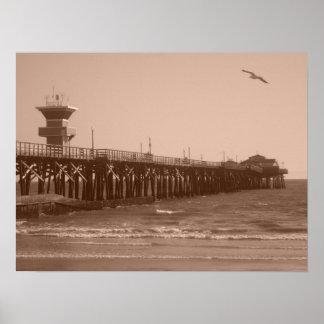 Playa CA del sello Posters