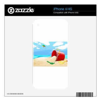 Playa Calcomanías Para iPhone 4S