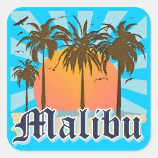 Playa California CA de Malibu Pegatina Cuadrada