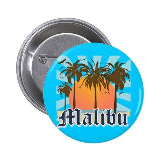 Playa California CA de Malibu Pin Redondo De 2 Pulgadas