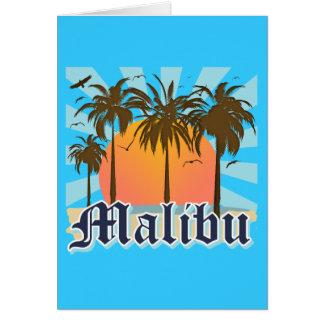 Playa California CA de Malibu Tarjeta Pequeña