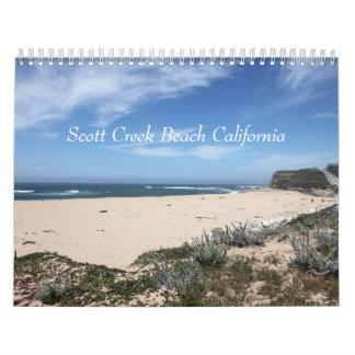 Playa California de la cala de Scott Calendarios