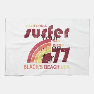 playa California de los negros Toallas De Mano