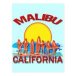 PLAYA CALIFORNIA DE MALIBU POSTALES