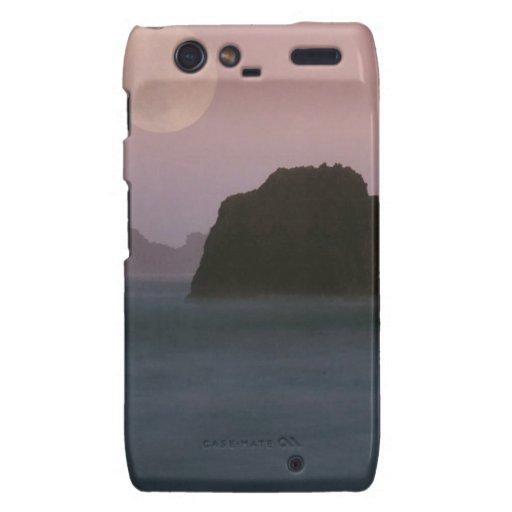 Playa California de Moonset Rockaway del agua Droid RAZR Carcasa