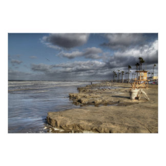 Playa California de Newport Poster