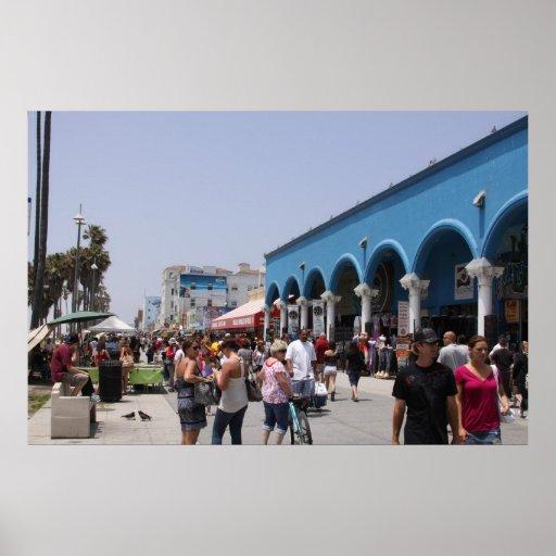Playa California de Venecia Póster