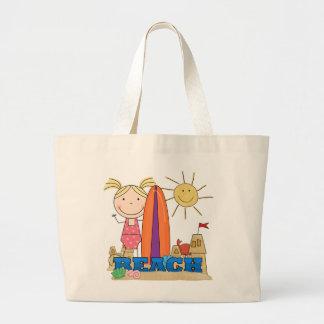 PLAYA - camisetas y regalos rubios del chica Bolsa Tela Grande
