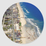 Playa Carolina del Norte de Kure Pegatina Redonda