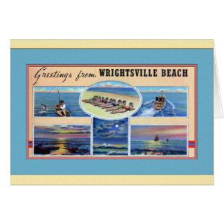 Playa Carolina del Norte de Wrightsville Felicitacion