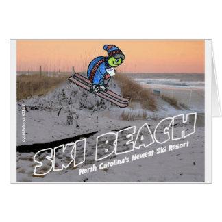 Playa Carolina.jpg del norte del esquí Tarjeta De Felicitación
