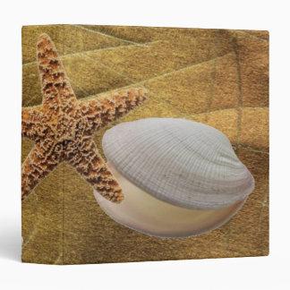 Playa - carpeta de Avery de las cáscaras del mar