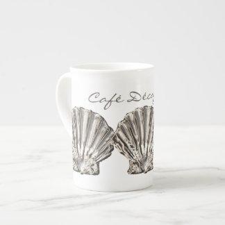 """Playa cáscara de Café Décafféiné blanco marrón"""" Taza De Porcelana"""