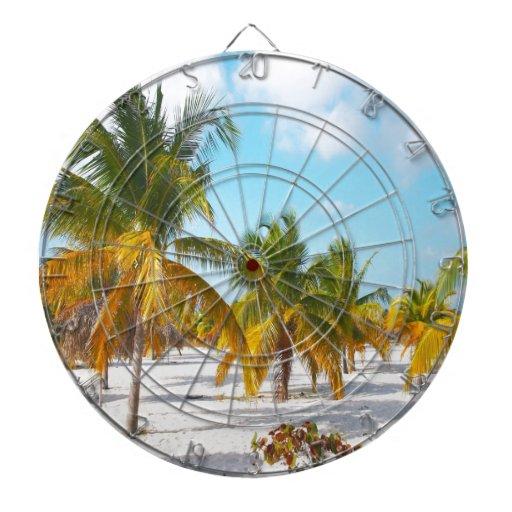 Playa Cayo de Sirena de la palmera largo Tabla Dardos