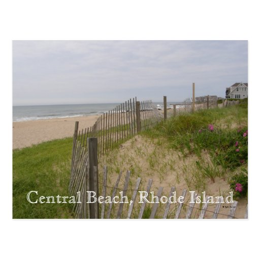 Playa central, Rhode Island Tarjetas Postales