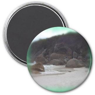 Playa chillona 3 imán redondo 7 cm