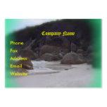Playa chillona 3 tarjetas de negocios