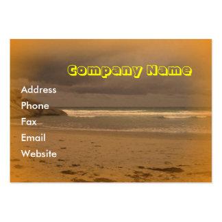 Playa chillona 5 tarjetas de visita grandes