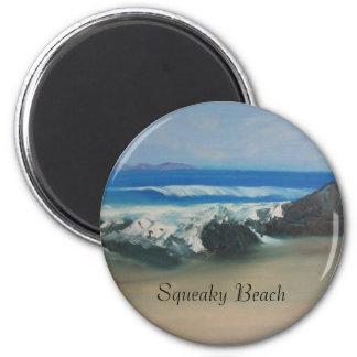 Playa chillona imán redondo 5 cm