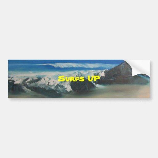 Playa chillona pegatina de parachoque