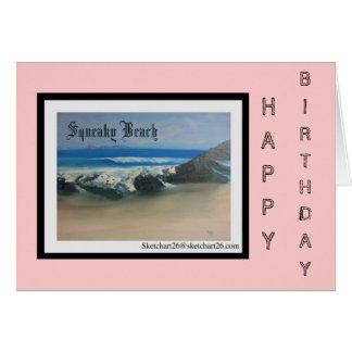 Playa chillona tarjeta de felicitación