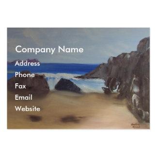 Playa chillona tarjetas de visita grandes