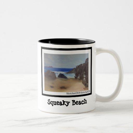 Playa chillona taza dos tonos