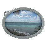 Playa colombiana hebilla de cinturon oval