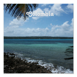 Playa colombiana poster