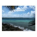 Playa colombiana postal